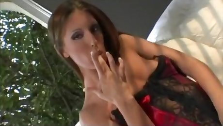 Brunette Cum Slut Fucking Two members